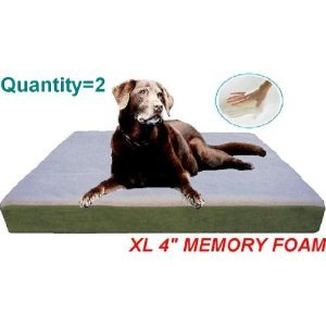 Fleece Memory Foam Orthopedic Waterproof Dog Bed