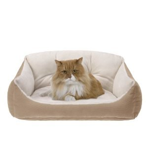 JLA Pets Low-Border Tufted Cuddler Cat Bed