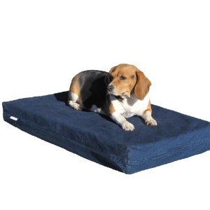 Orthopedic Memory Foam Denim Dog Bed