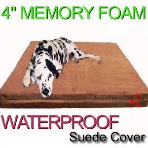 Orthopedic Microsuede Waterproof Memory Foam Dog Bed