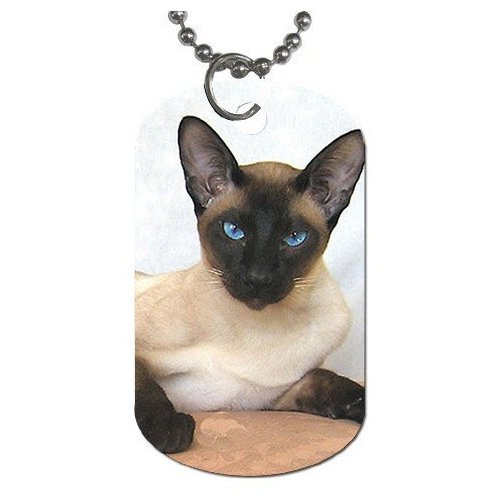 Siamese Cat Dog Tag Necklace